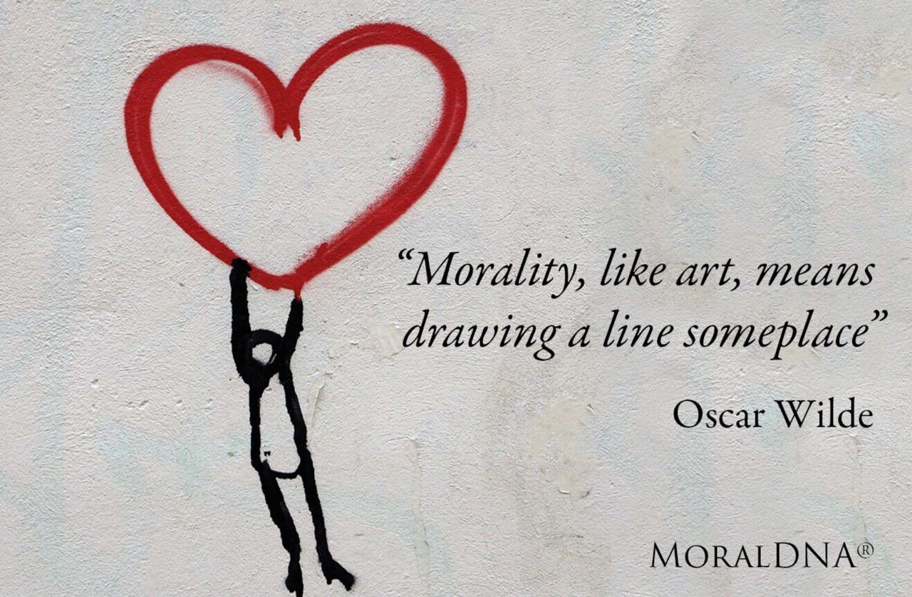 """The organisation: """"Morality, like art, means drawing a line someplace"""" - Petros"""