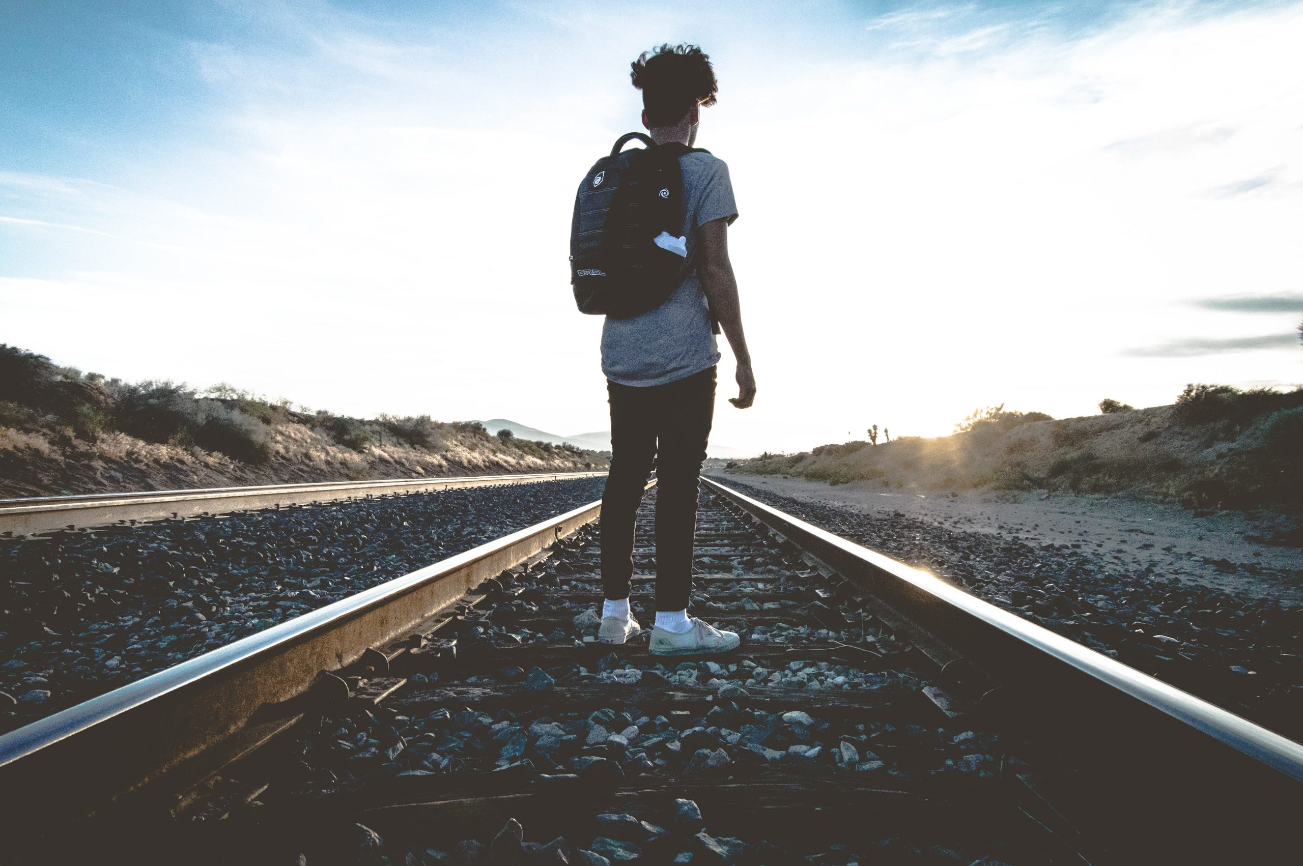 man on railway tracks - resilience - who's got what it takes? - Petros UK