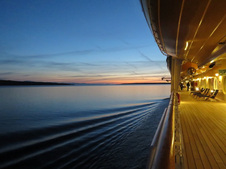 sea cruise sunset - calming our unfounded fears - Petros - good mental health