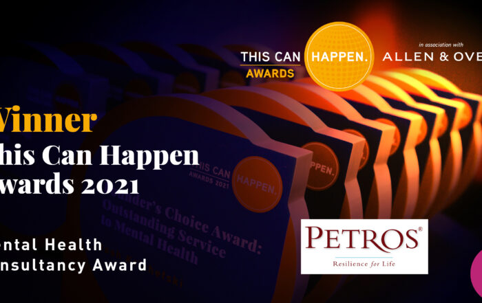 This Can Happen Award Winners - Petros - Best Mental Health Consultancy 2021